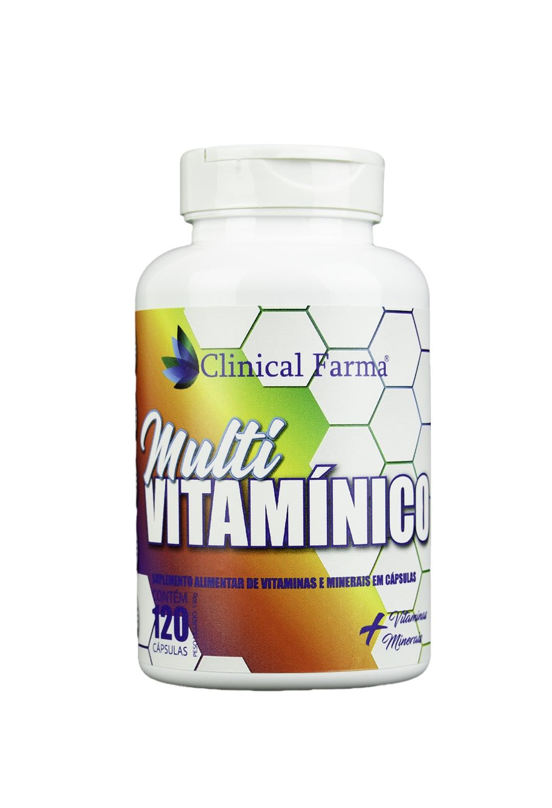 Multivitamínico Concentrado 120 caps Clinical Farma