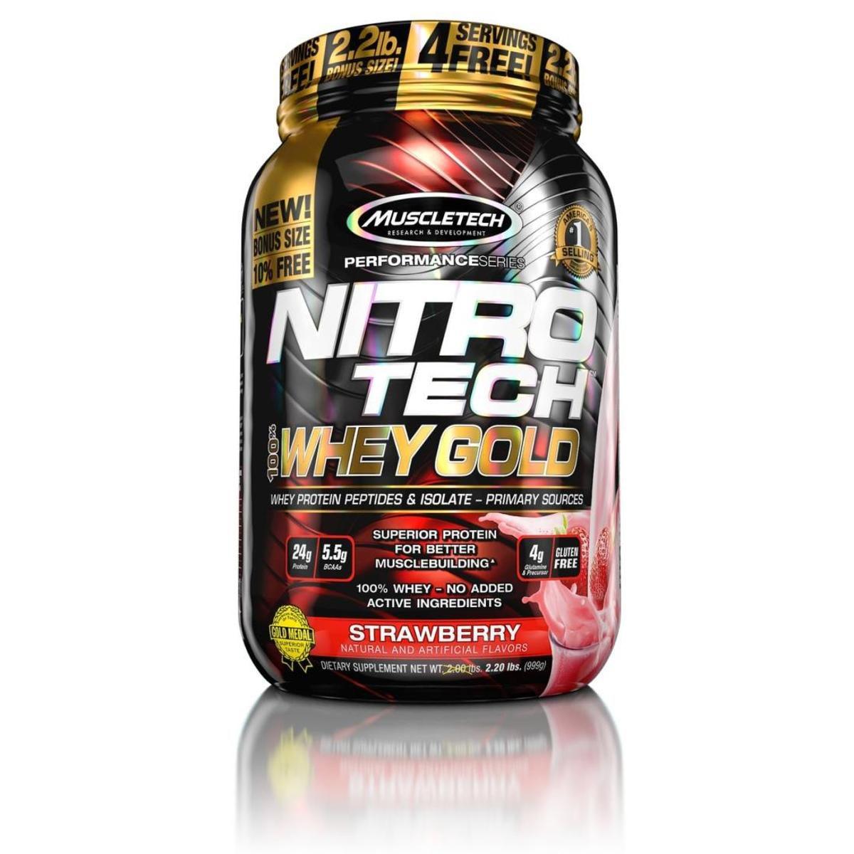 Nitro Tech 100% Whey Gold 2,2 lbs MuscleTech