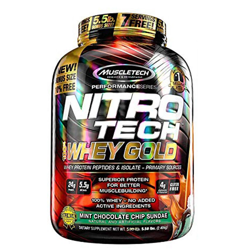 Nitro Tech Whey Gold 5.5 lbs 2,5kg MuscleTech
