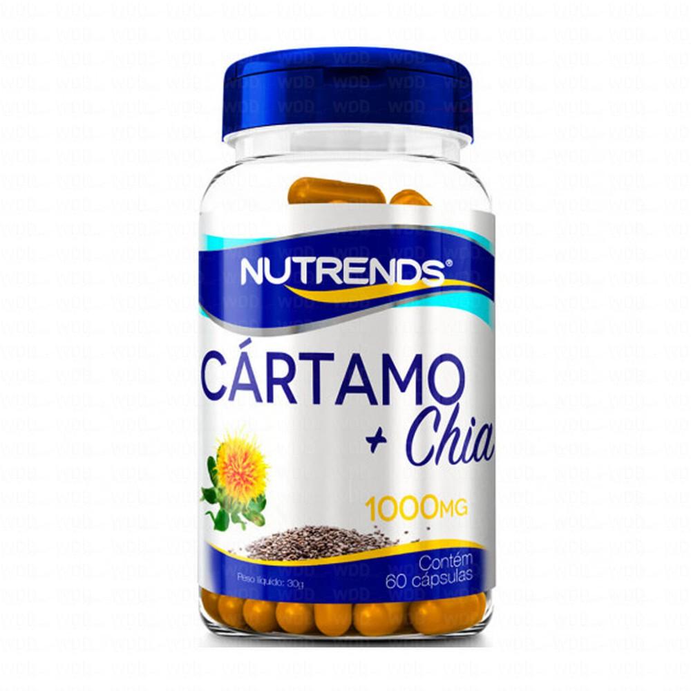 Óleo de Cártamo + Chia 1000mg 60 caps Nutrends