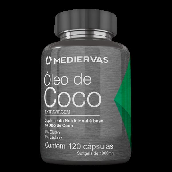 Óleo de Coco Extravirgem 120 caps Mediervas