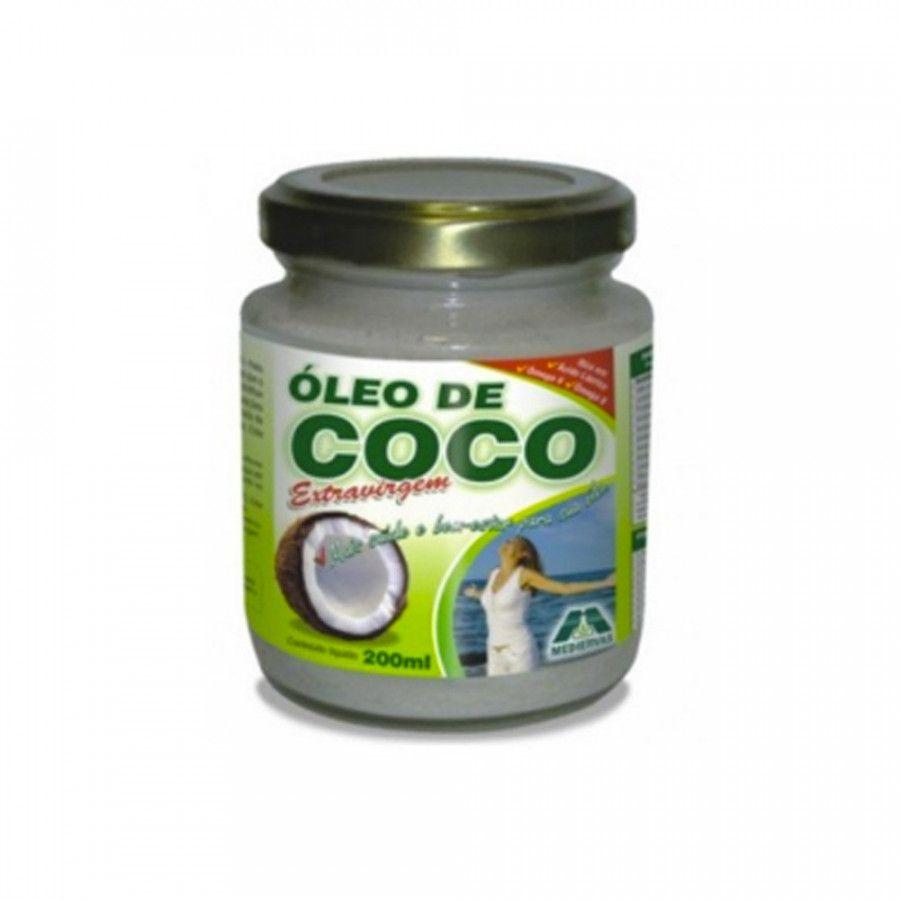 Óleo de Coco Extravirgem 200ml Mediervas