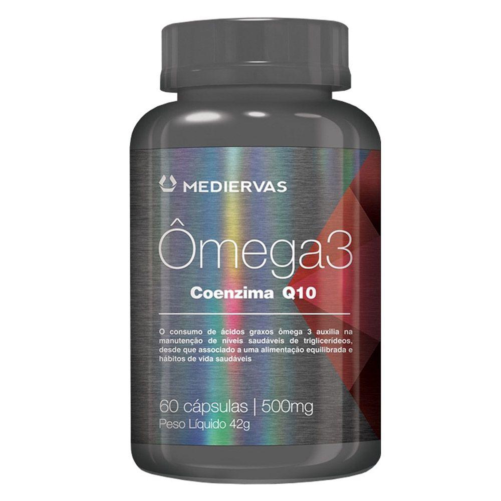 Ômega 3 + Coenzima Q10 500mg 60 caps Mediervas
