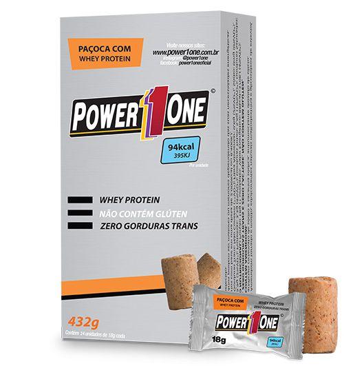 Paçoca Com Whey Protein Cx c/ 24 un Power One