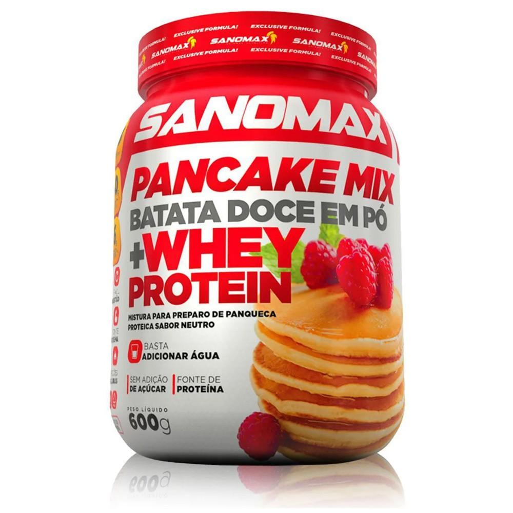 Pancake Mix Batata Doce em Pó + Whey Protein 600g Sanomax