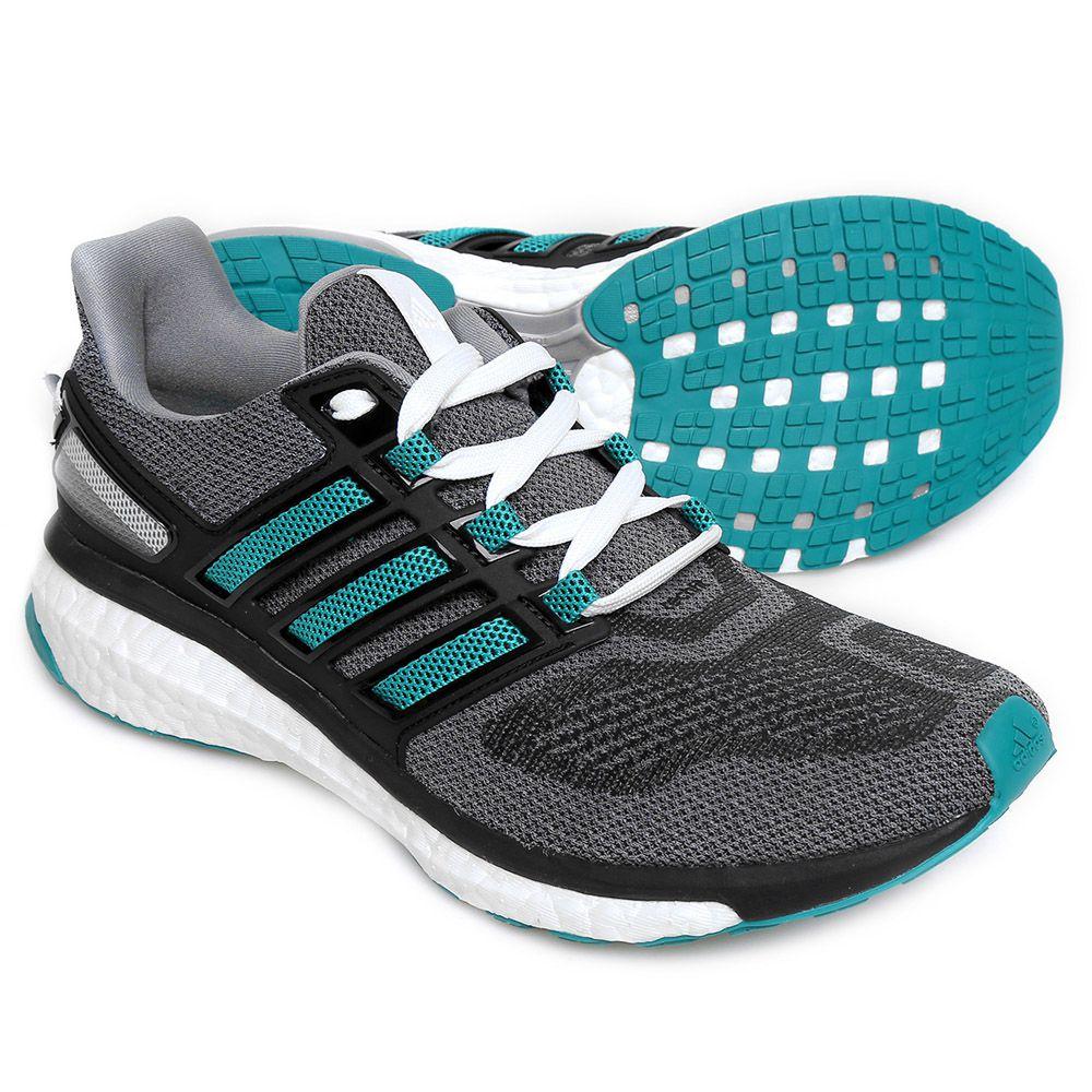 Par de Tênis Adidas Energy Boost 3 Cza/verde/agua/pto