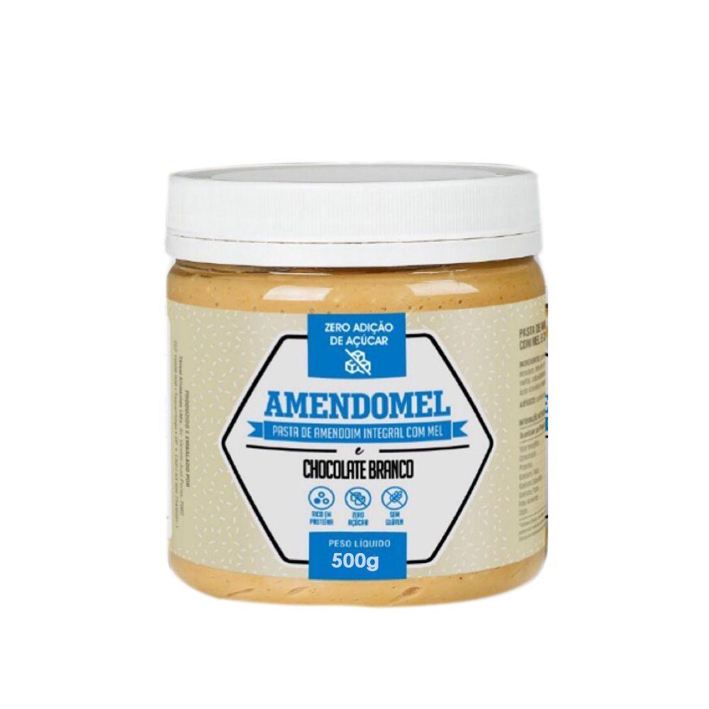 Pasta de Amendoim Amendomel e Chocolate Branco 500g Thiani