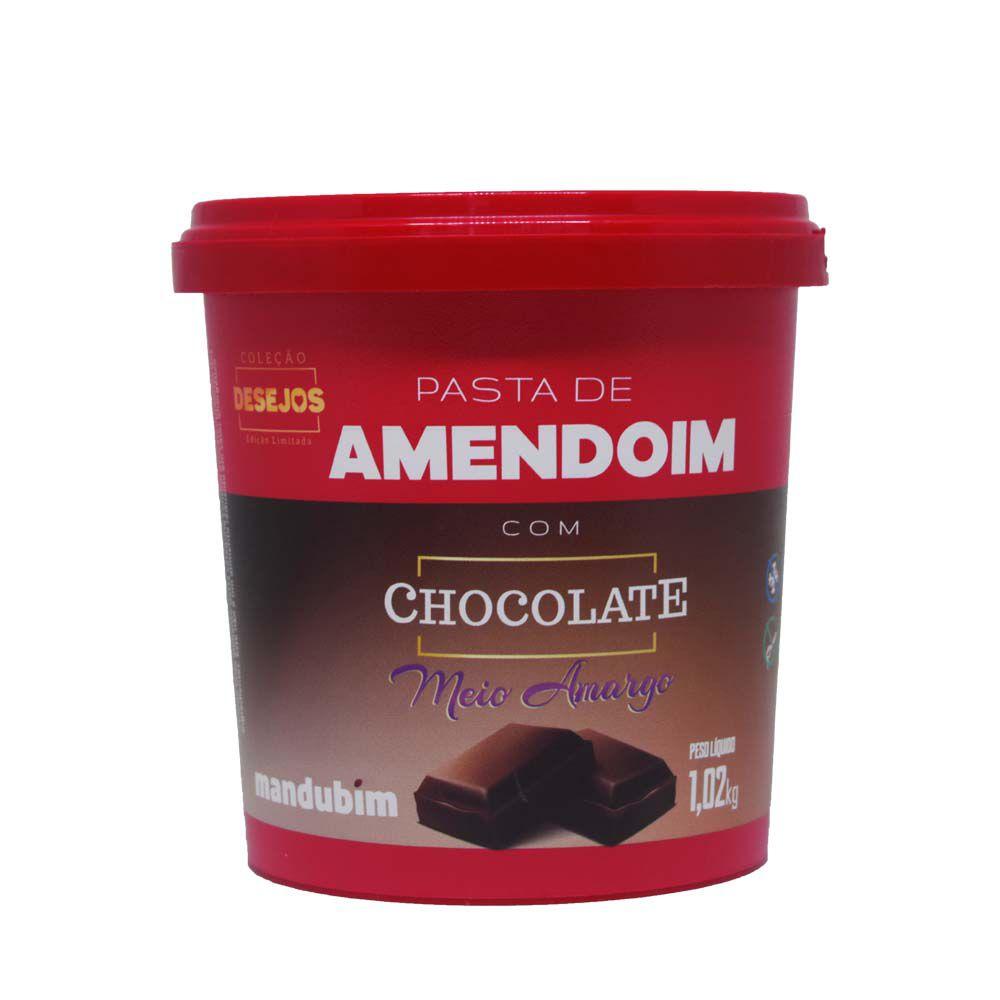 Pasta de Amendoim com Chocolate Meio Amargo 450g Mandubim