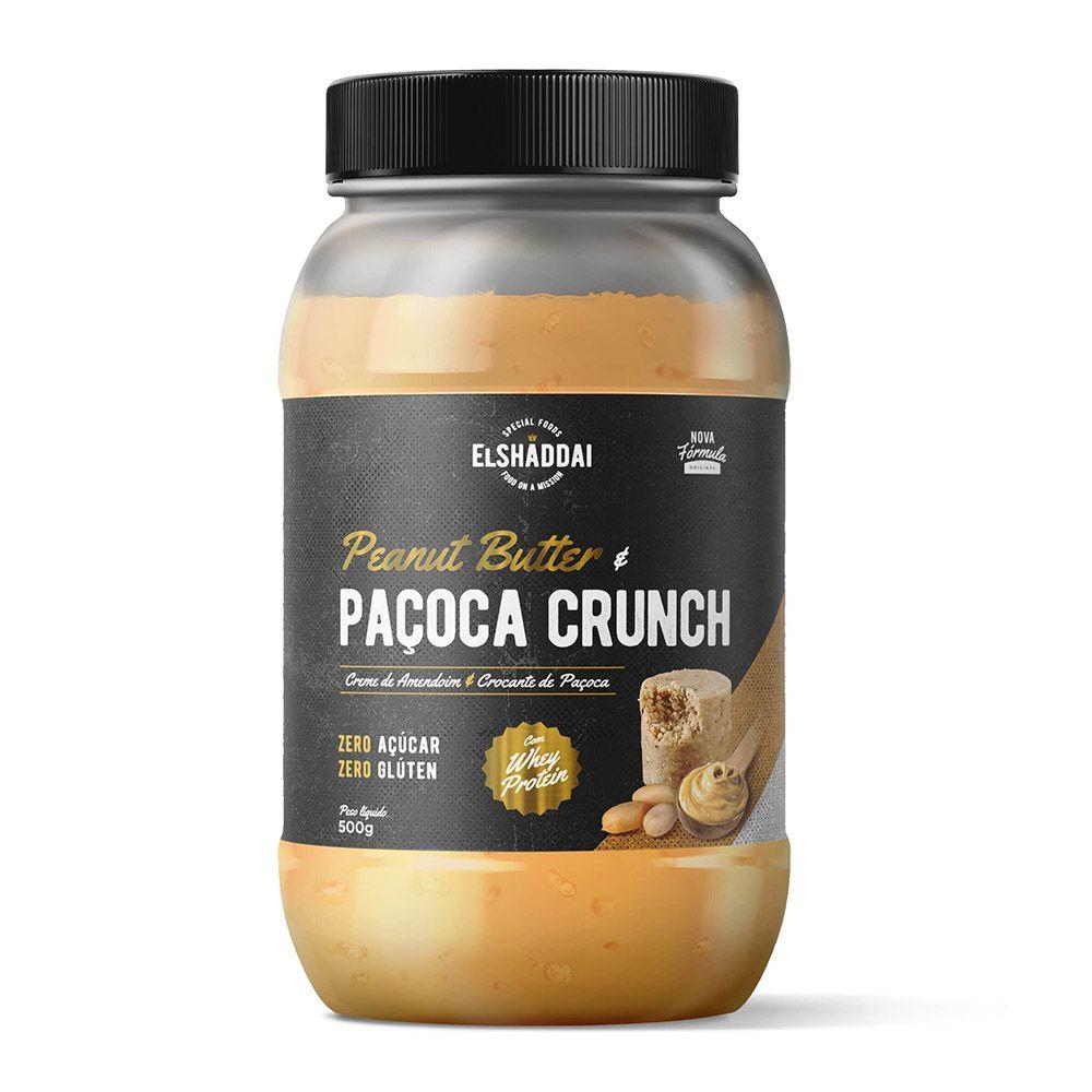 Pasta de Amendoim com Whey Protein Paçoca Crunch 500g El Shaddai