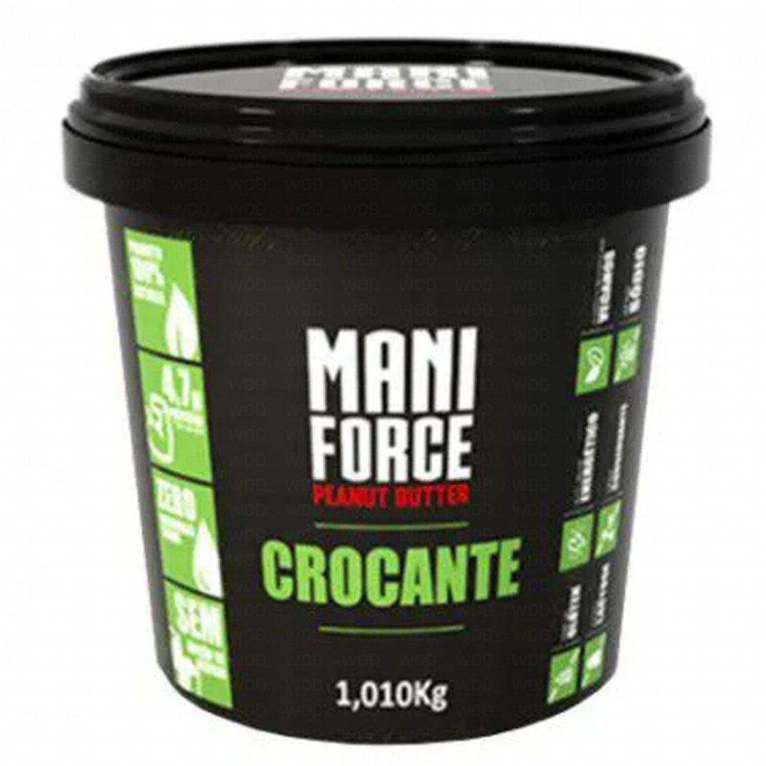 Pasta de Amendoim Crocante 1kg Mani Force