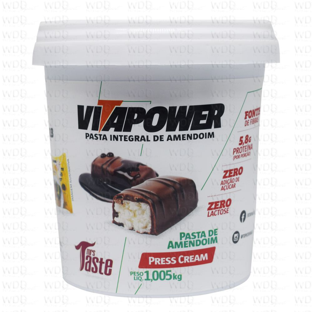 Pasta de Amendoim Integral 1,005kg Vitapower Press Cream Mrs Taste