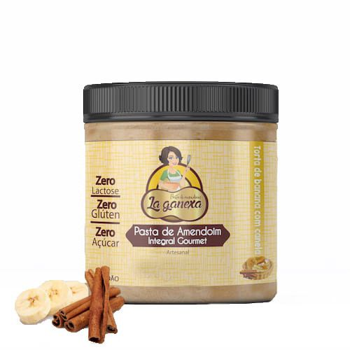Pasta de Amendoim Integral Gourmet Torta de Banana com Canela 1,005kg La Ganexa