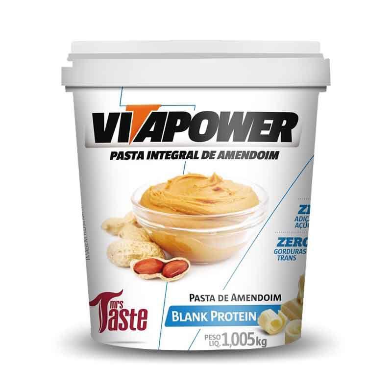Pasta de Amendoim Vitapower Blank Protein 1,005kg Mrs Taste