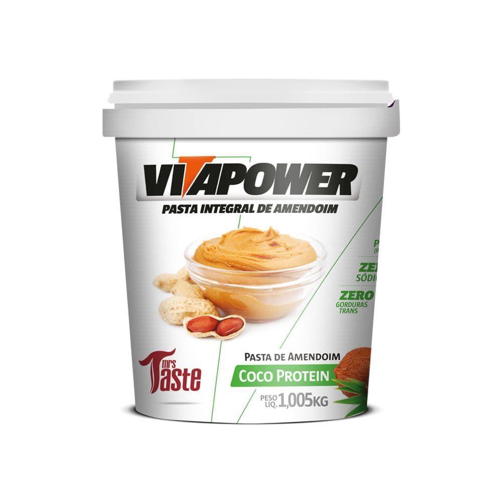 Pasta de Amendoim Vitapower Coco Protein 1,005kg Mrs Taste