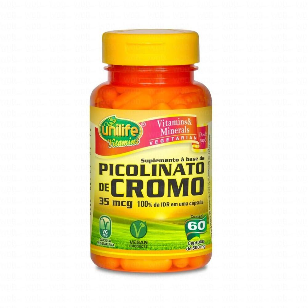 Picolinato de Cromo 500mg 60 caps Unilife