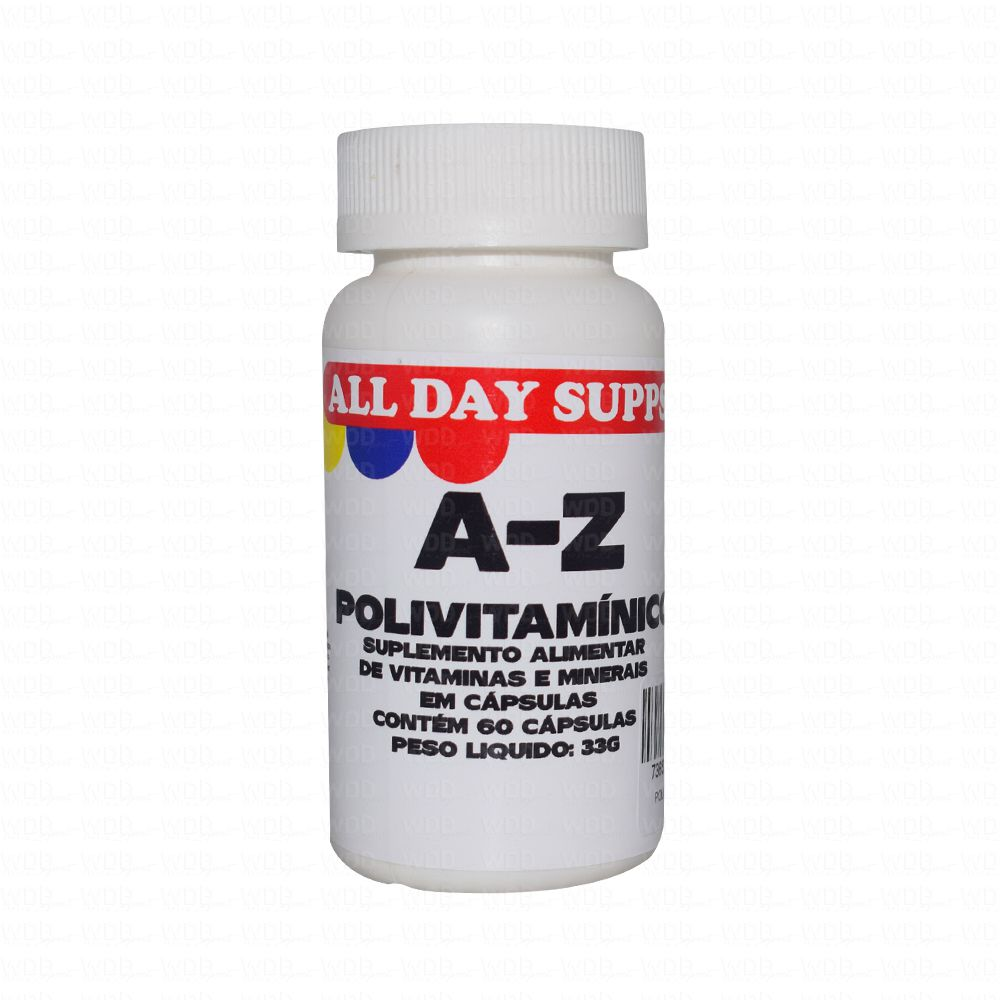 Polivitamínico A-Z 60 Caps All Day Supps
