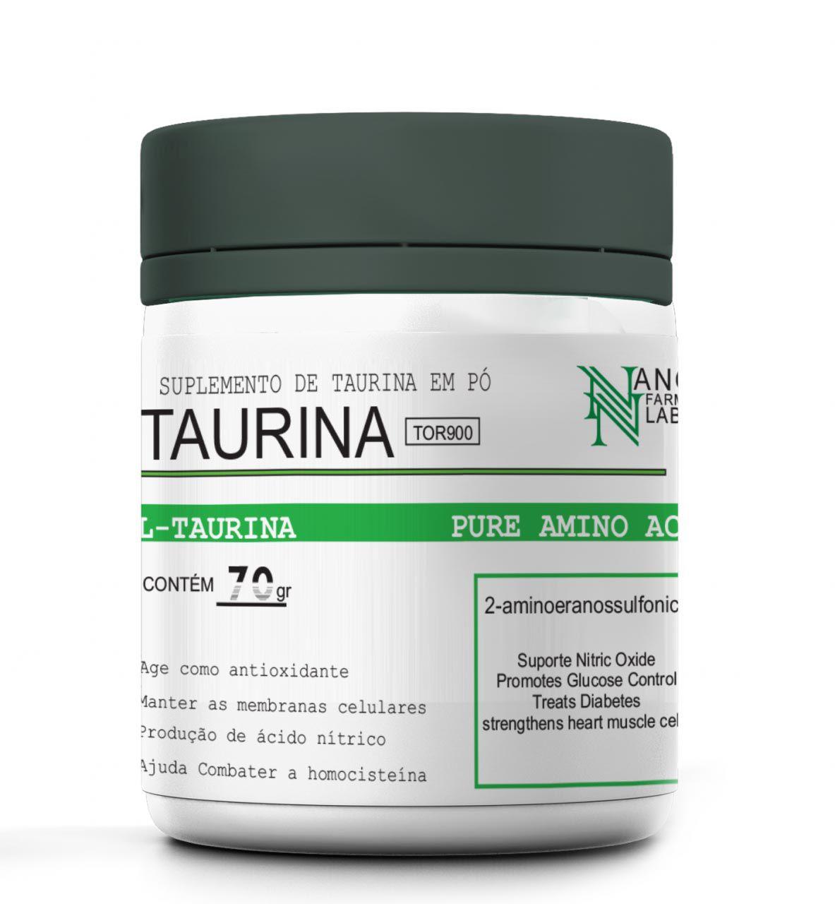 L-Taurina 70g Nano Farma Labs