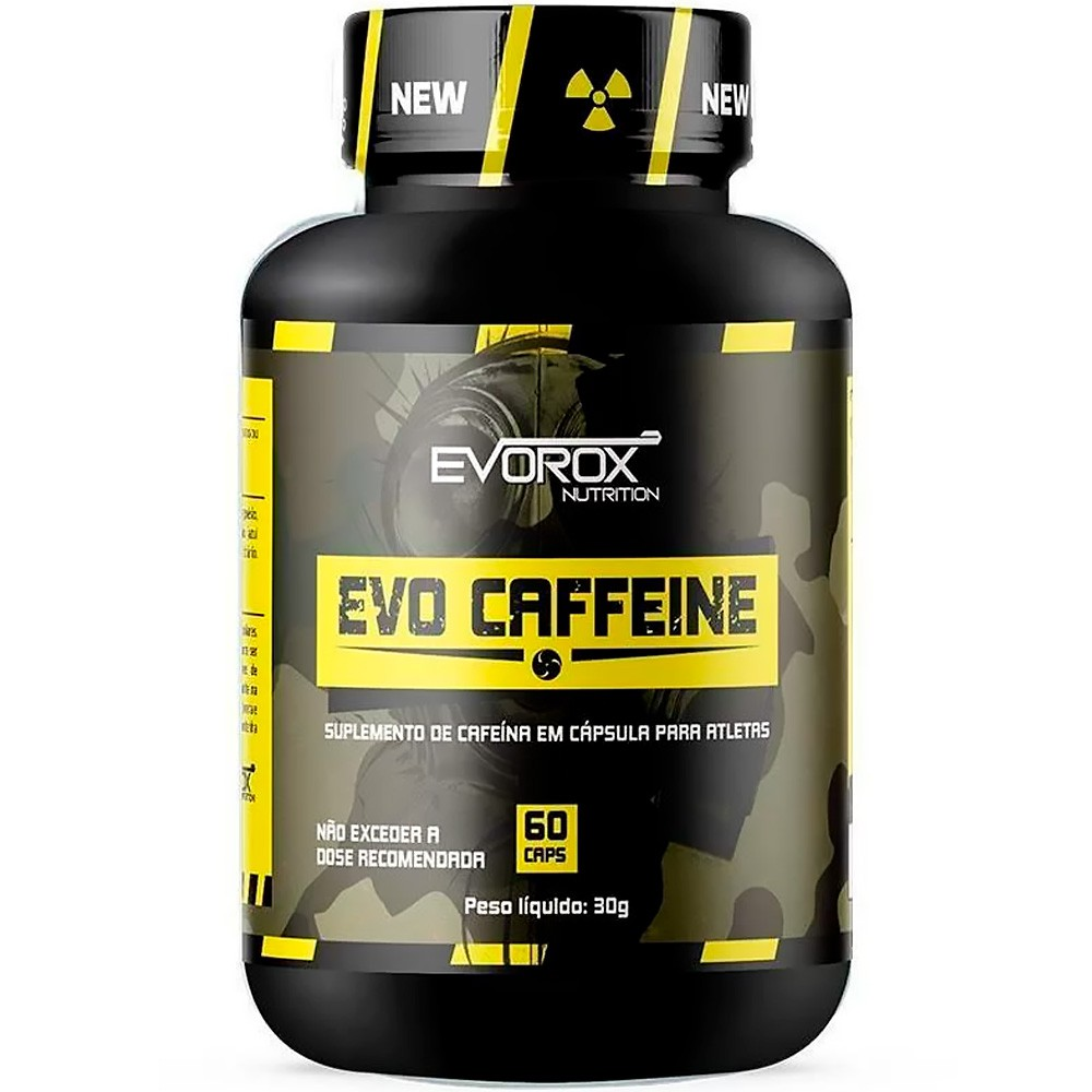 Termogênico Evo Caffeine 60 tabs Evorox Nutrition