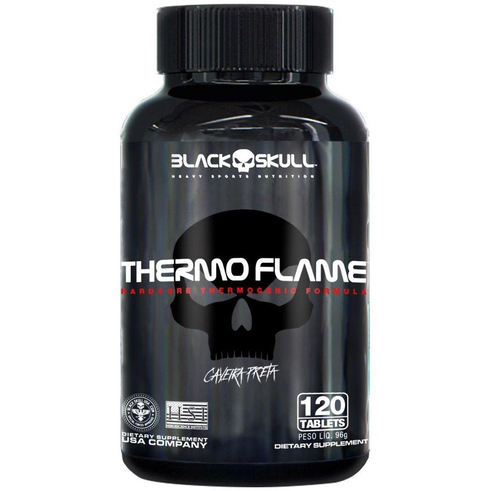 Thermo Flame Caveira Preta 120tabs Black Skull