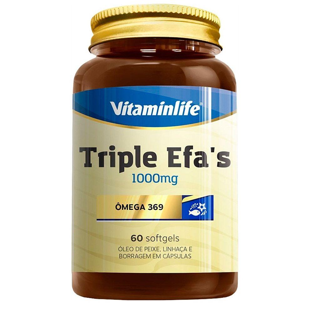 Triple Efa's 1000mg Ômega 3-6-9 60 caps Vitaminlife
