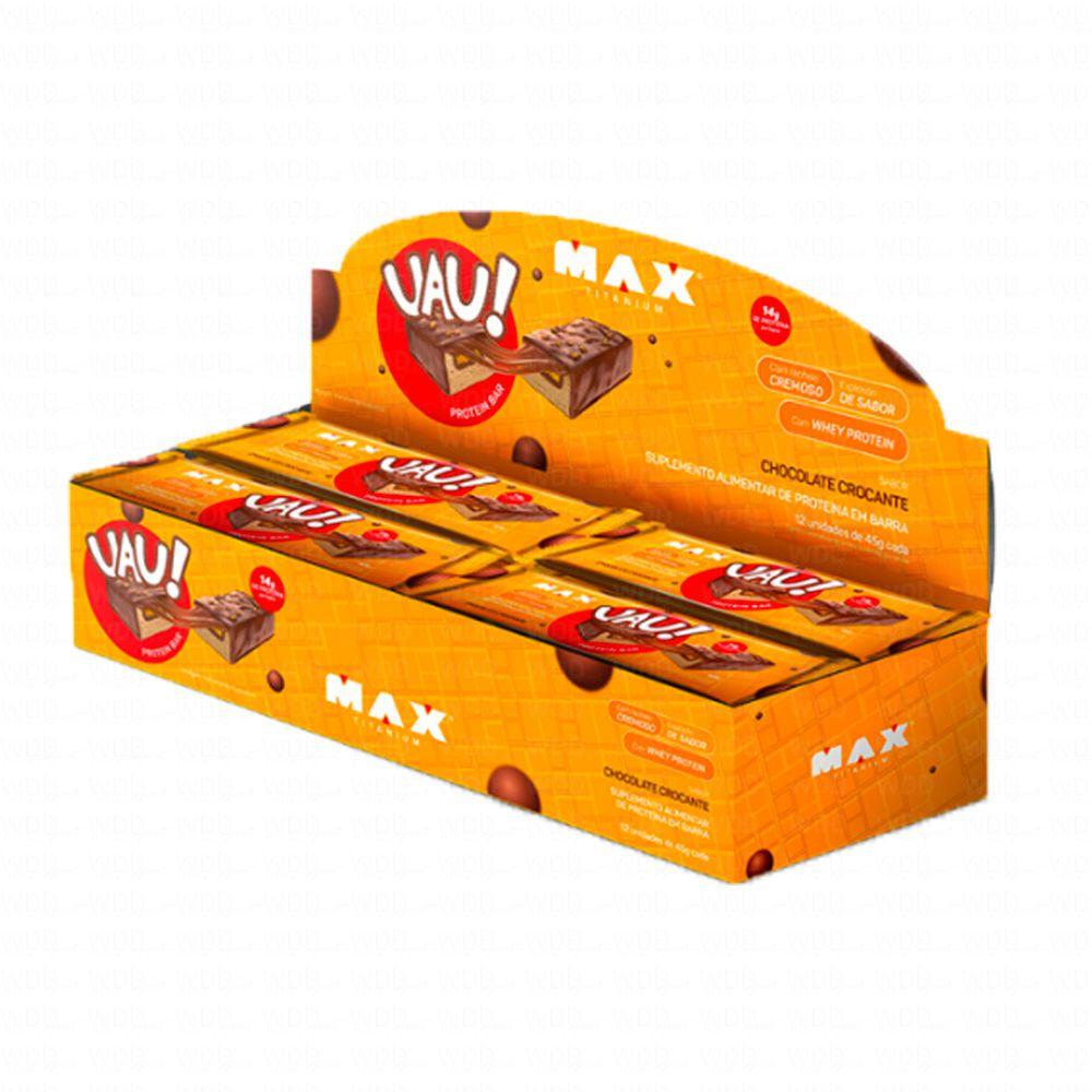 UAU Protein Bar cx c/ 12un (45g) Max Titanium