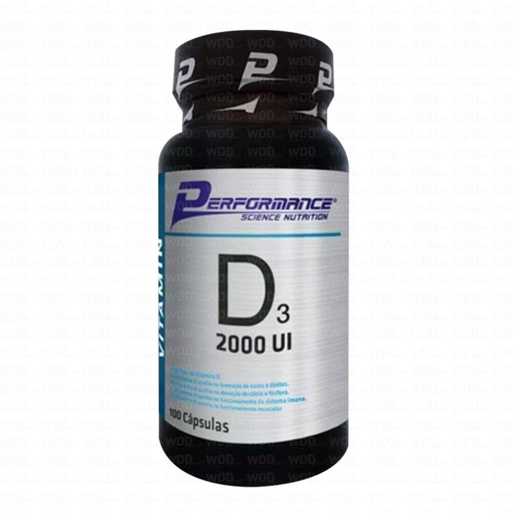 Vitamina D3 2000 UI 100 caps Performance