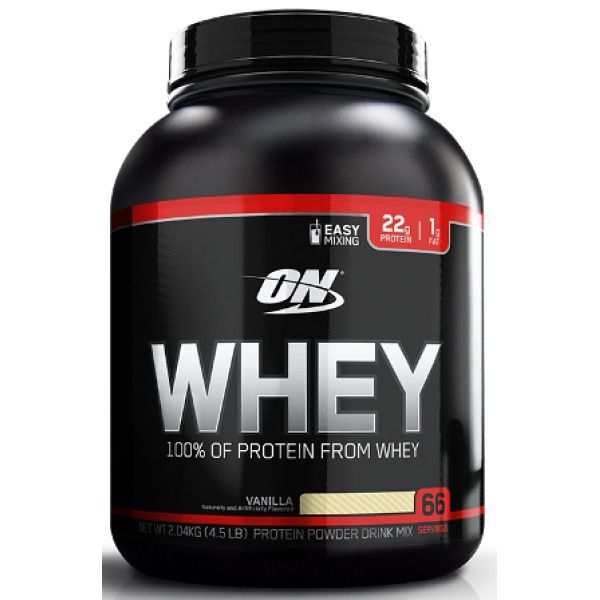 f3be398e4 Whey 100% Of Protein ON 4.5lbs Optimum