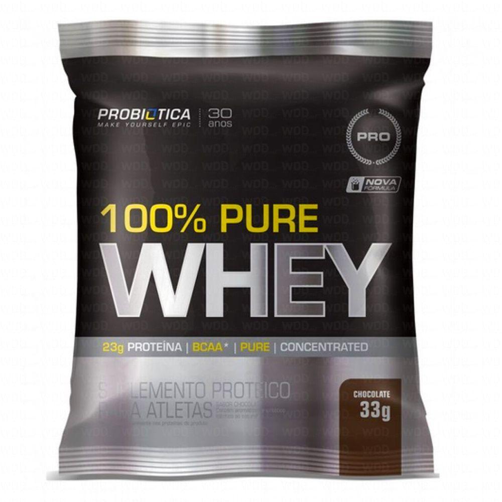 Whey 100% Pure Sachê Chocolate 33g Probiótica