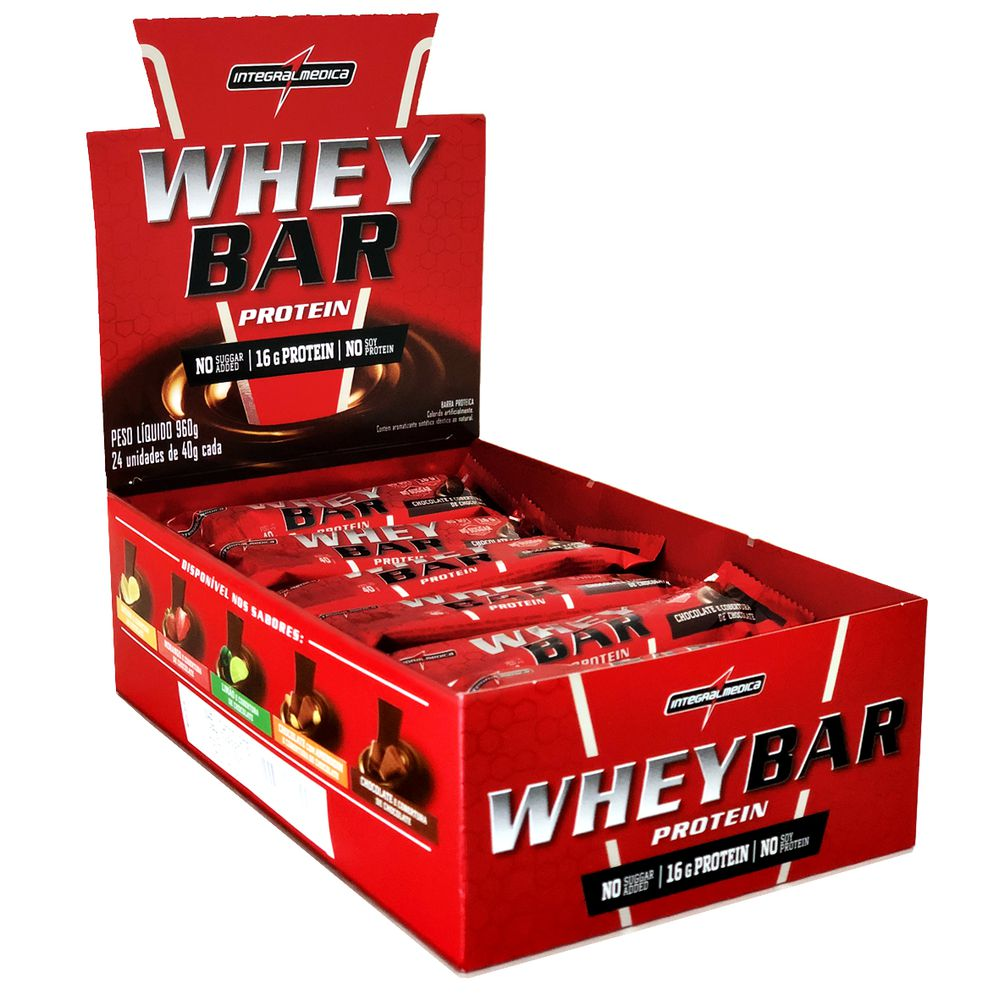 Whey Bar Protein Cx C/24unid de 40g Integralmedica