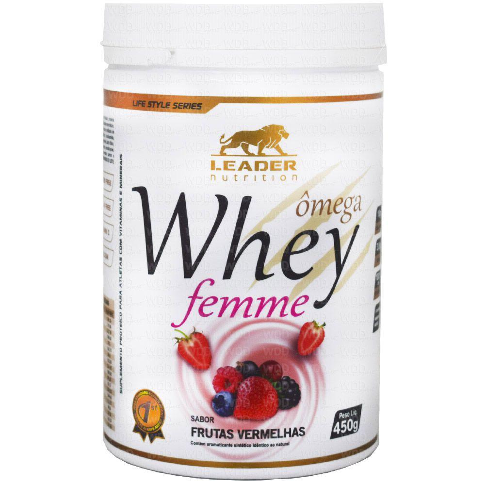 Whey Ômega Femme 450g Leader Nutricion