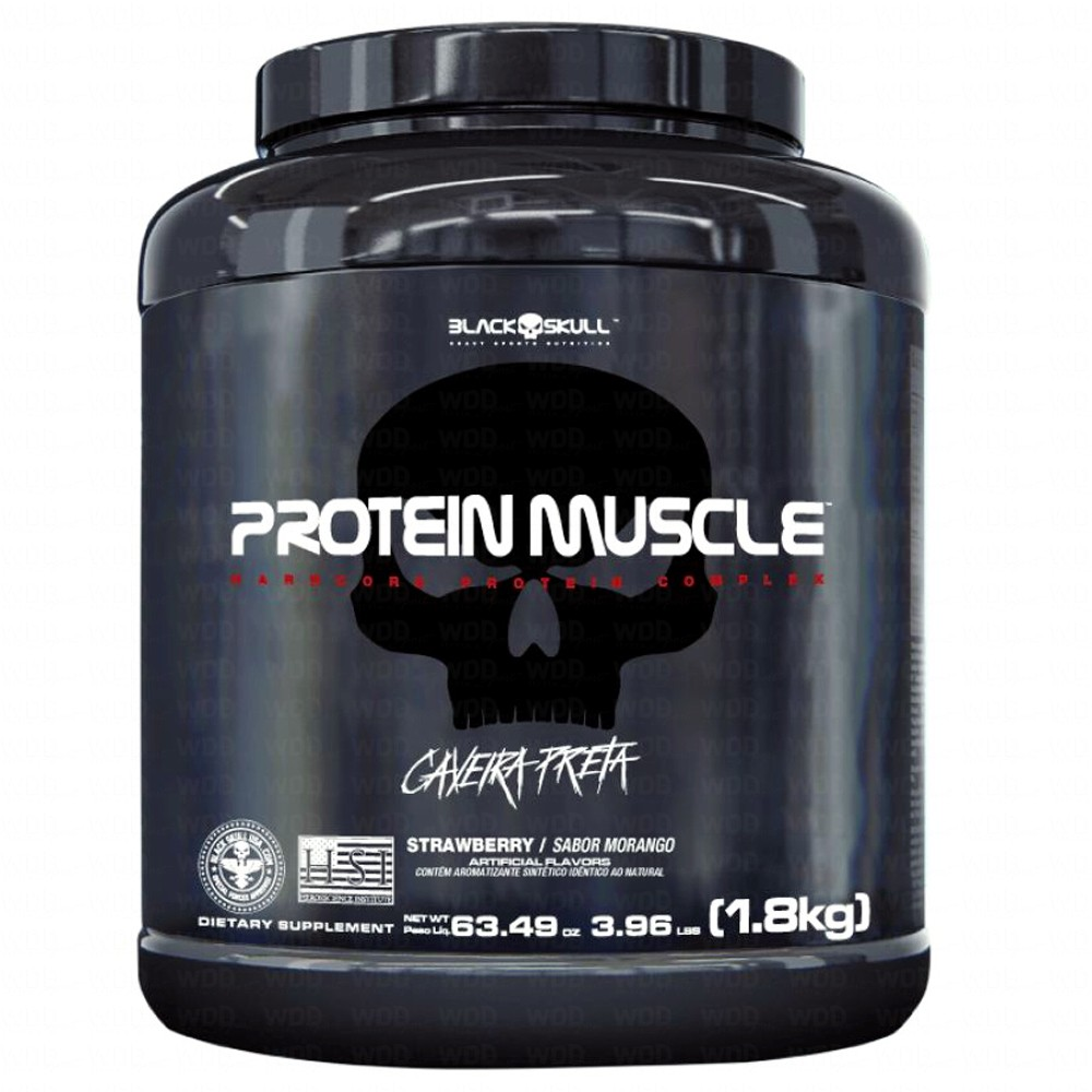 Whey Protein Muscle 1,8Kg Black Skull