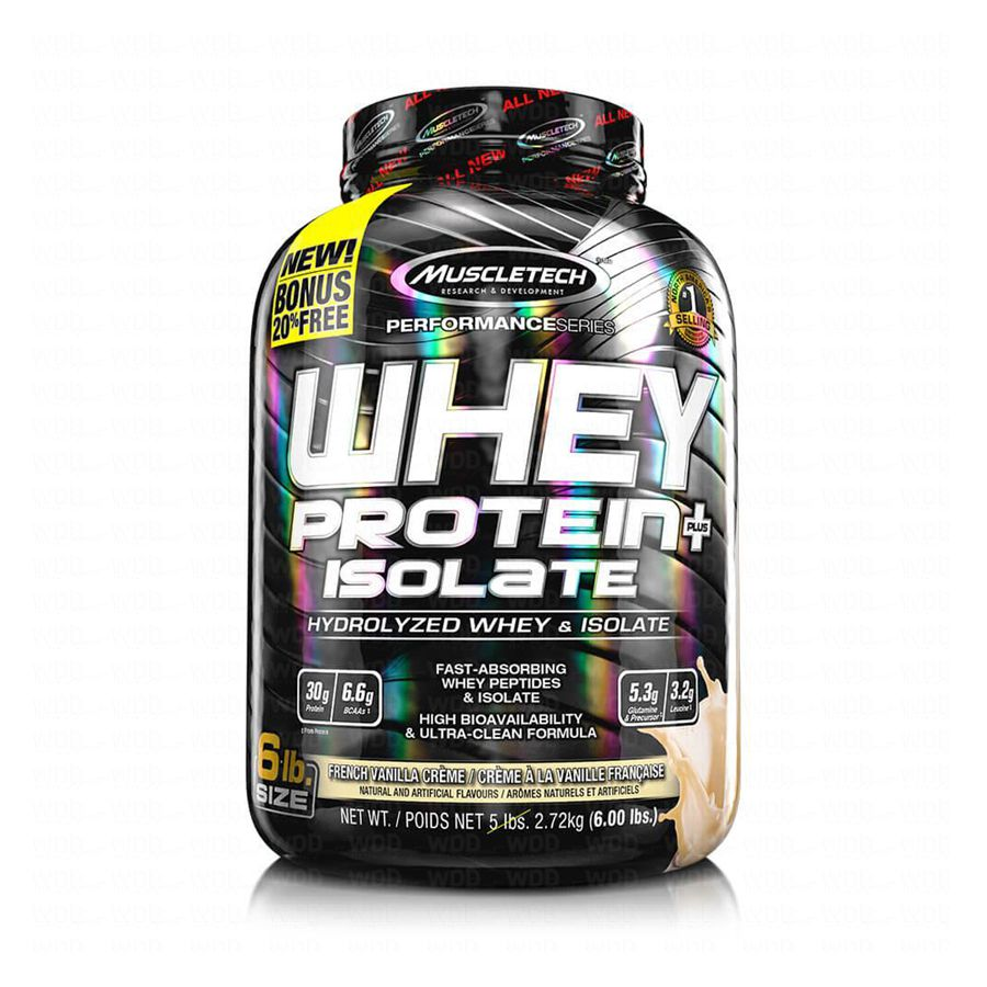 Whey protein plus Isolate 6 lbs 2,72kg MuscleTech
