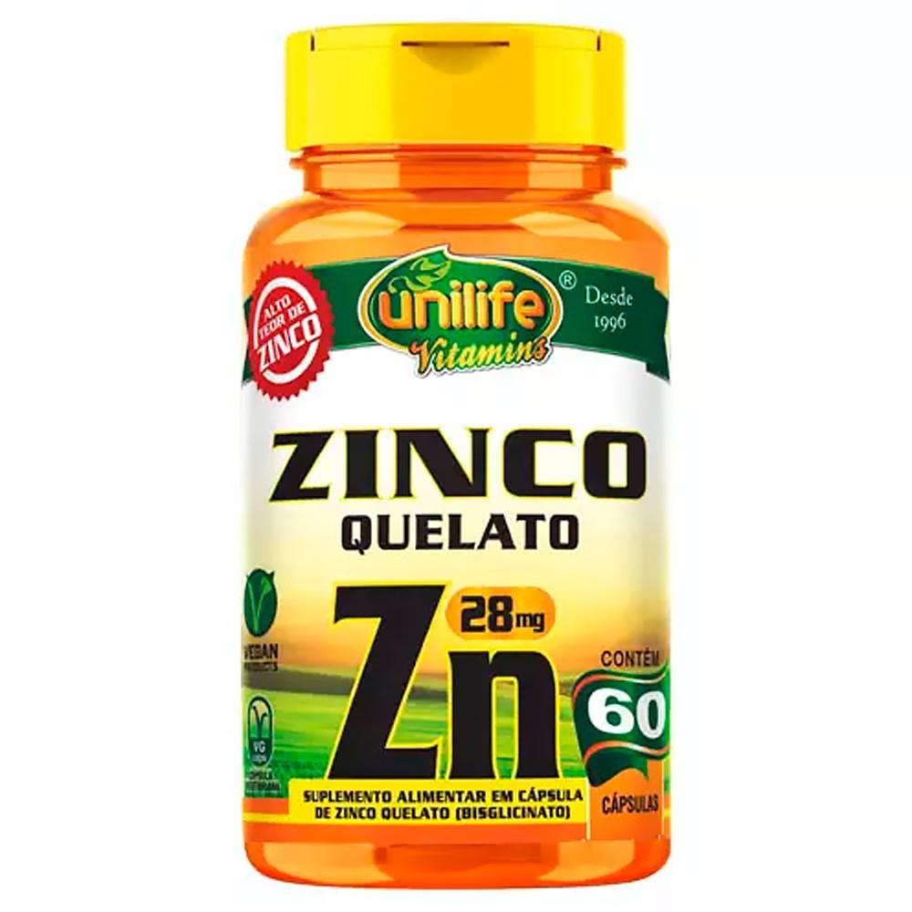 Zinco Quelato Vegan 60 caps Unilife