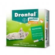 Drontal Gatos Spot On 0,5 a 2,5Kg (0,35ml) - Bayer