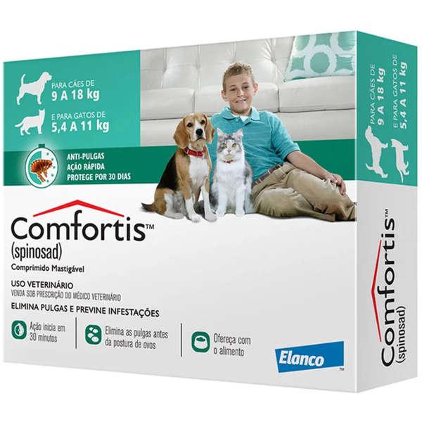 Comfortis 560mg para Cães de 9 a 18kg e Gatos de 5,5 a 11kg - Elanco