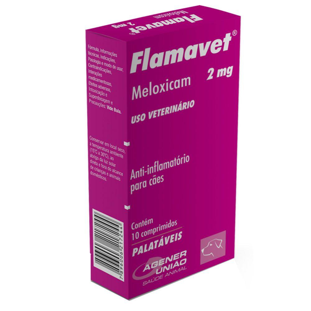 Flamavet Cães 2,0mg 10 comprimidos - Agener União