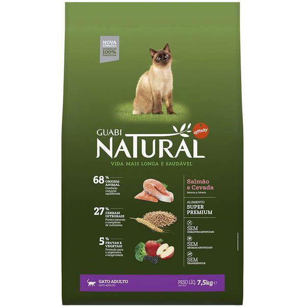 Guabi Natural Gatos Adultos Salmão e Cevada