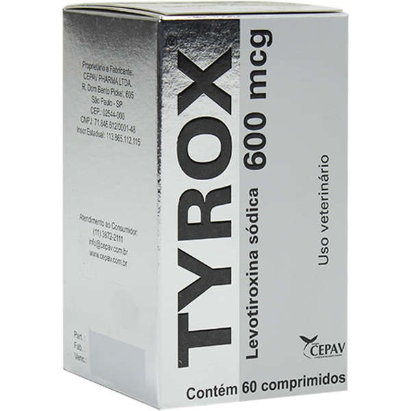 Tyrox Repositor Hormonal 600 mcg 60 comprimidos - Cepav