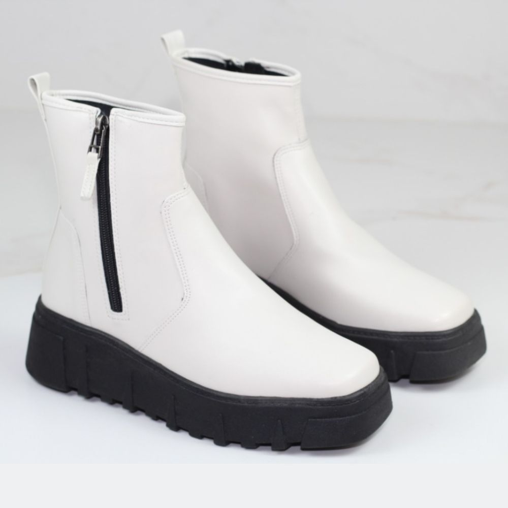 BOTA CANO CURTO DUBLIN OFF WHITE