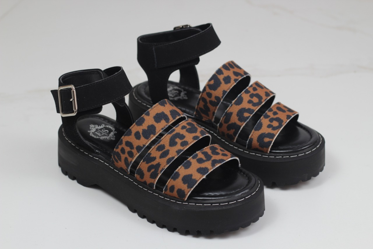 PAPETE FLATFORM MOON BAY ANIMAL PRINT ONÇA