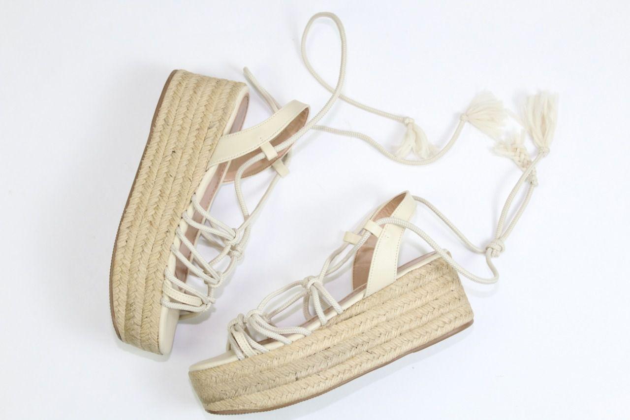 Sandália Lisa Flatform Espadrille Off White
