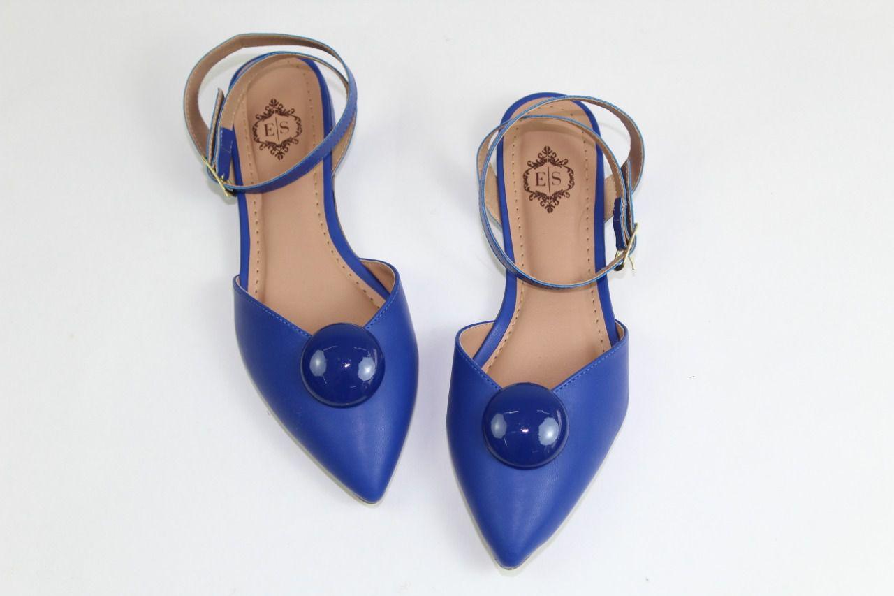 Sapatilha Slingback Tods Bico Fino Napa Azul