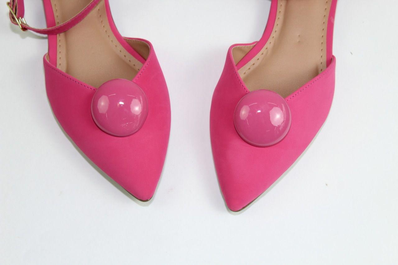 Sapatilha Slingback Tods Bico Fino Napa Pink