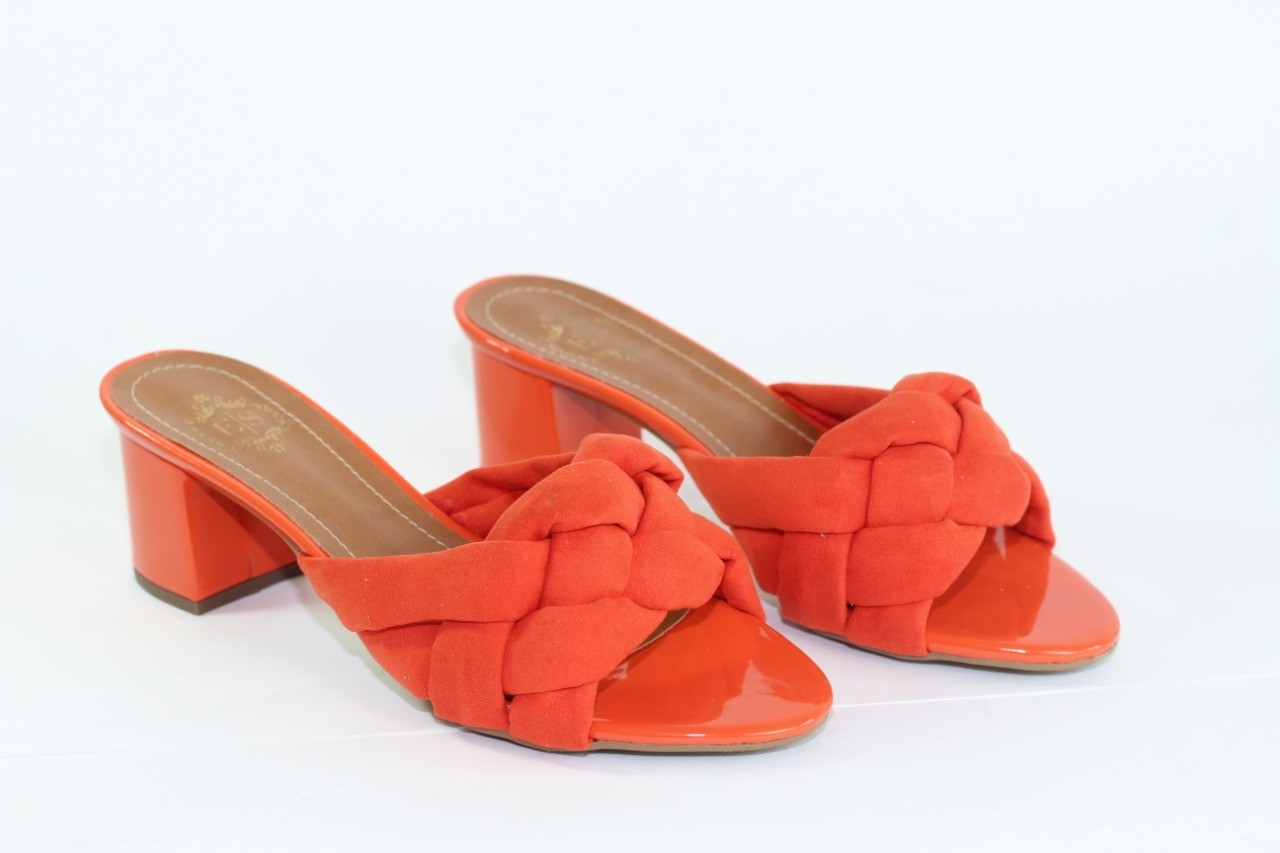 TAMANCO ELLA TRESSE SALTO BLOCO  CORAL ORANGE