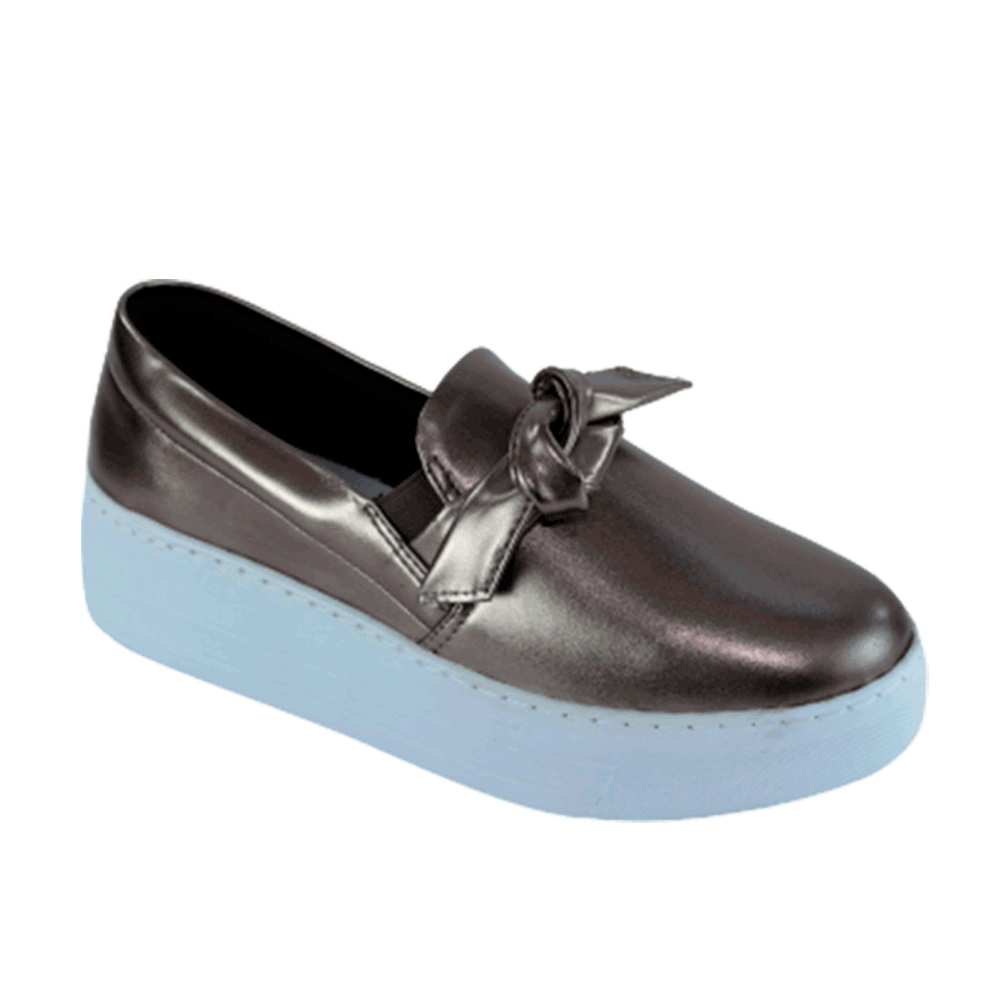 TÊNIS SLIP ON  JOY METALIZADO