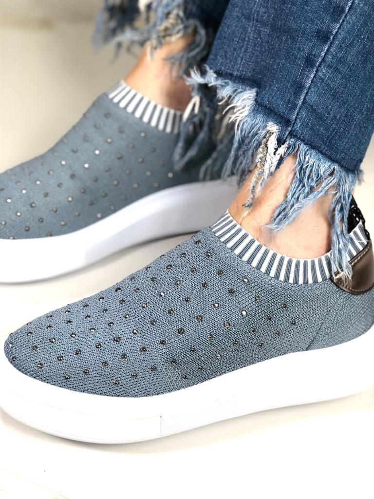 TÊNIS SLIPON KNIT HOTFIX