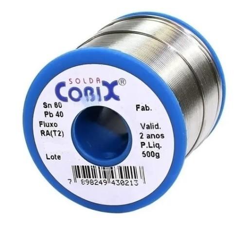 Carretel de Solda 60/40 0,8 MM 1/2 KG - Cobix