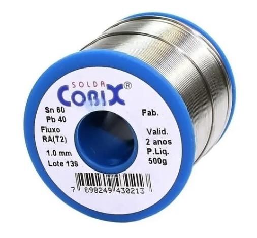 Carretel de Solda 60/40 1,0 MM 1/2 KG - Cobix