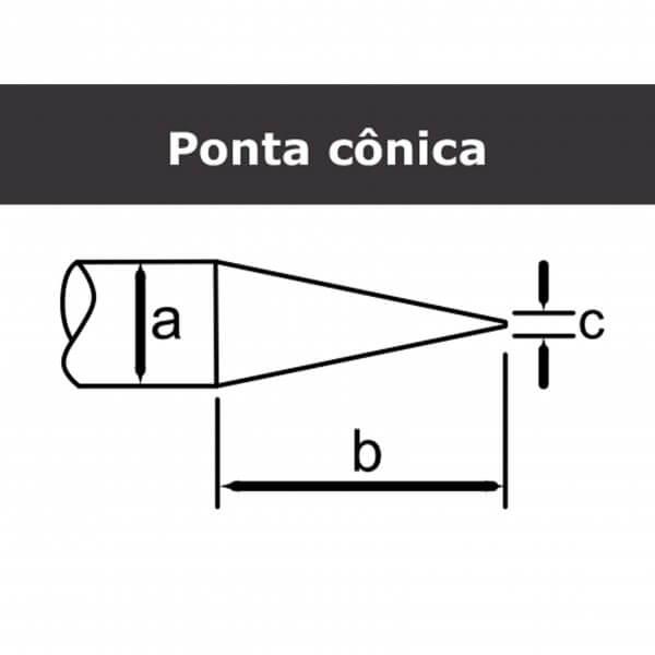 PT 100 Cônica