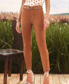 Calça skinny pesponto faixa